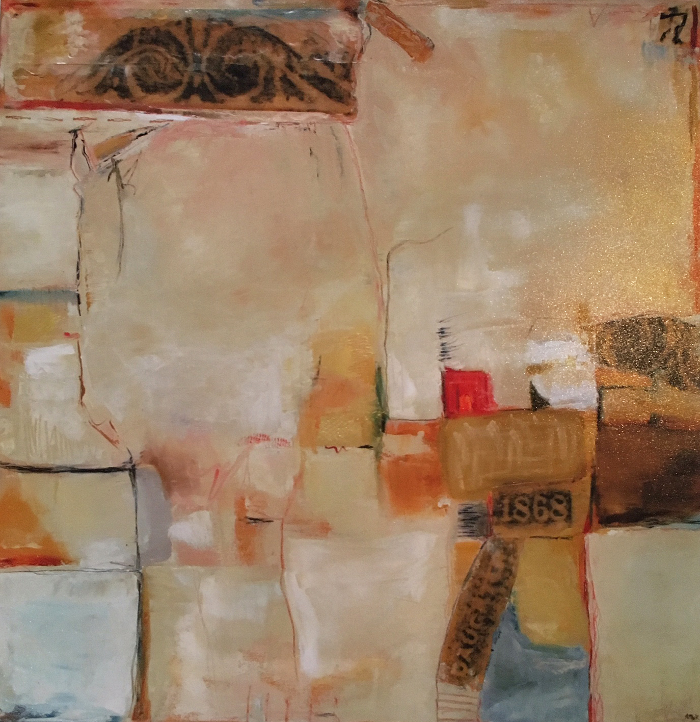 """TIME / 36"""" x 36"""" / SOLD"""