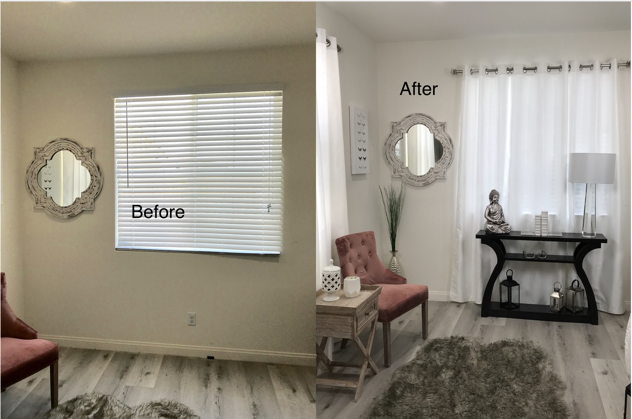 This can't get any easier. - The HouseOfMillan used NoNo Brackets to accomplish this amazing room transformation. A few key home decor pieces, some curtains, and No Holes in the walls. Perfect!https://www.instagram.com/houseofmillan/
