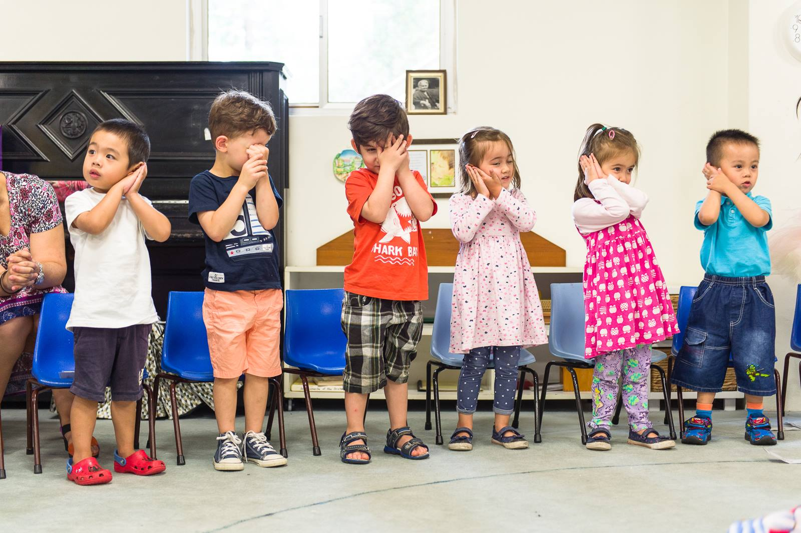 Learning through music during group activity time