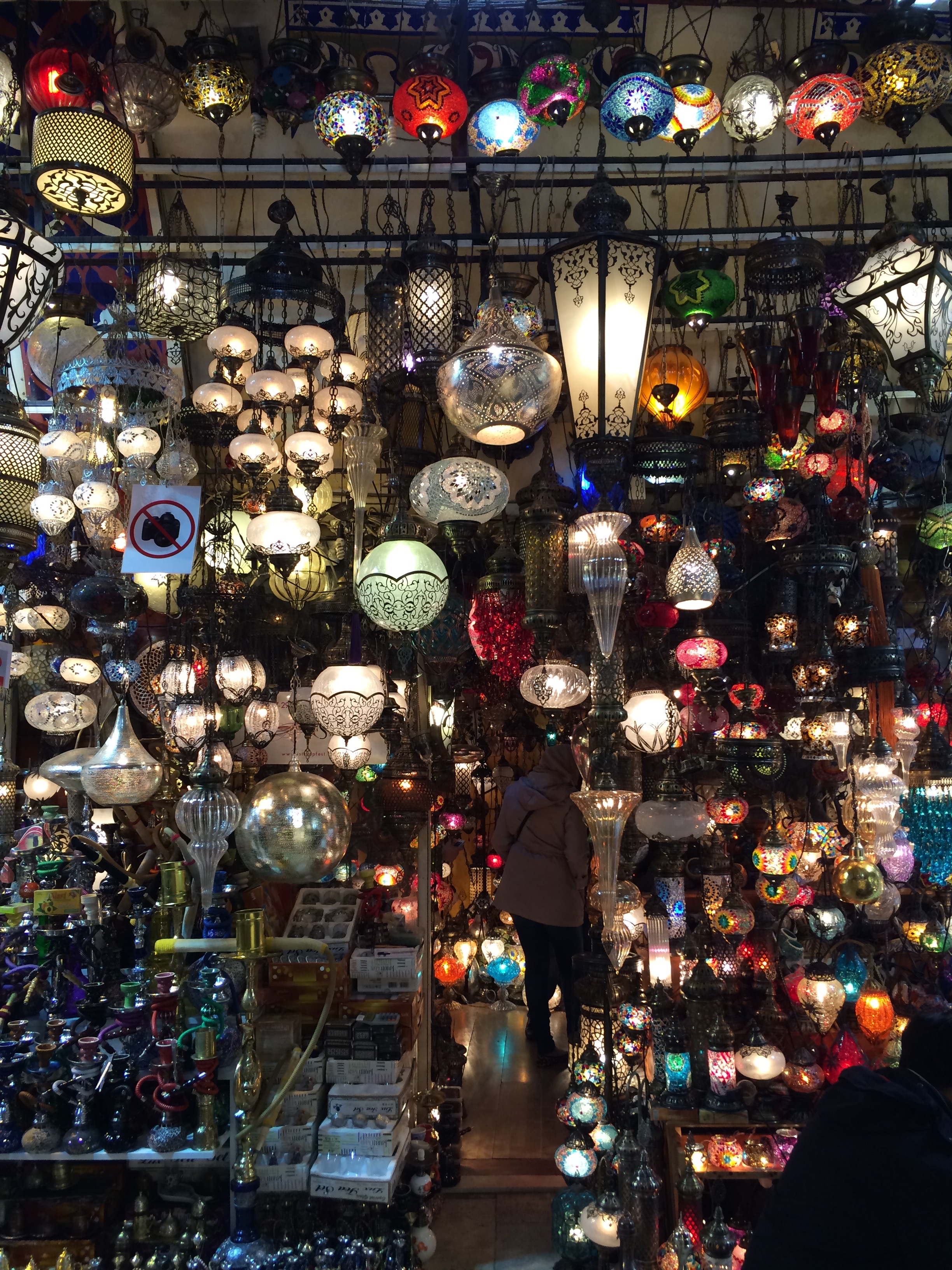Traditional Turkish Lamps in Grand Bazaar, Istanbul, Turkey