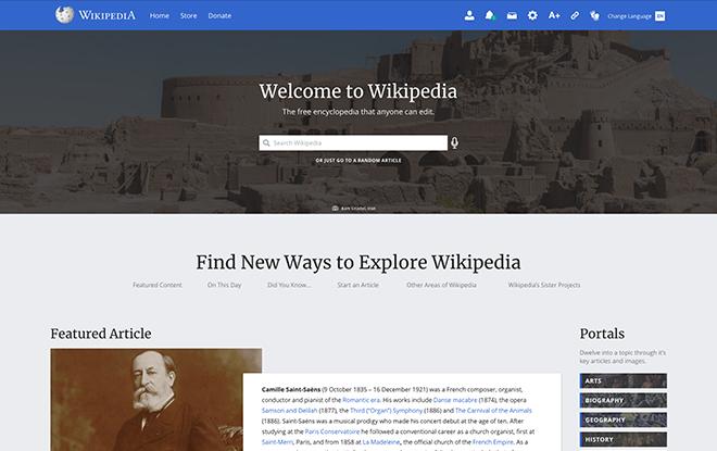 Wikipedia Redesign - UX/UI