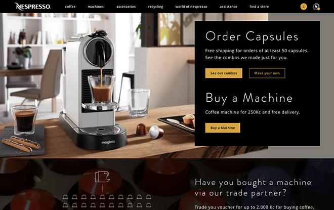 Nespresso Redesign - UX/UI