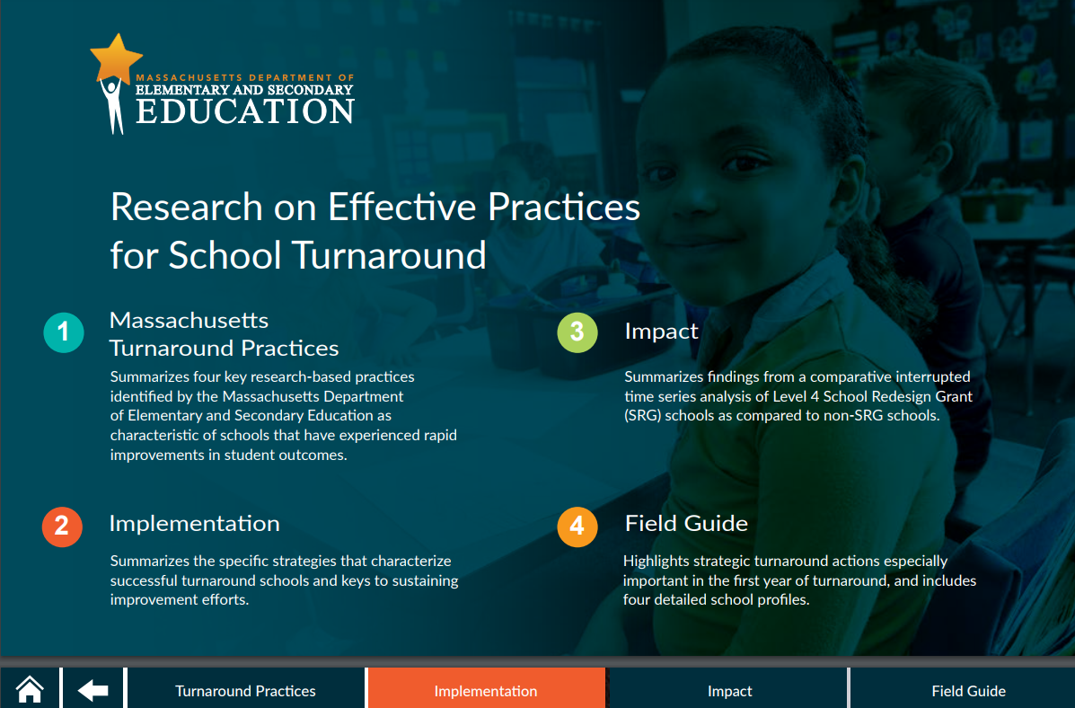 Massachusetts Effective Turnaround Practices