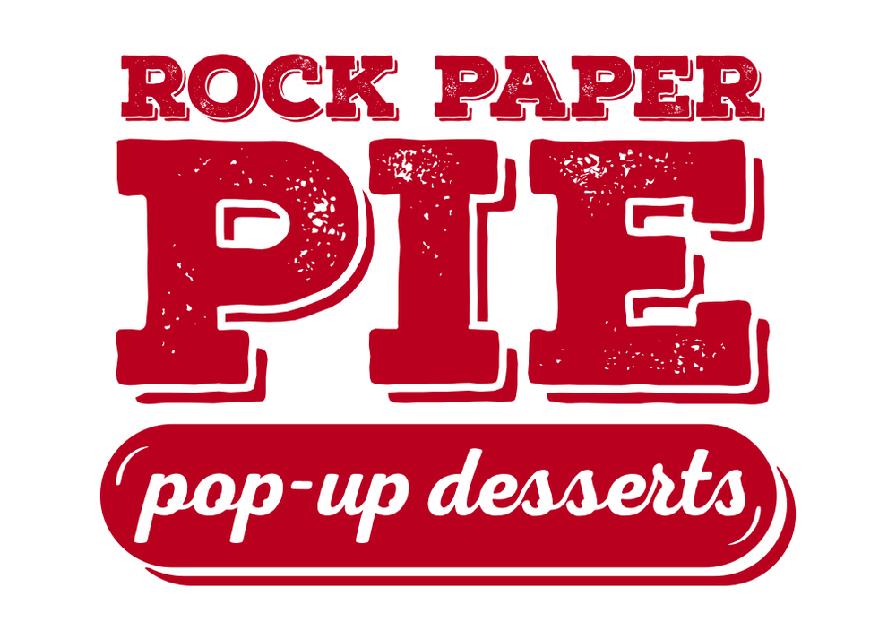 Logo designed by Seattle Sign Shop for Rock Paper Pie.