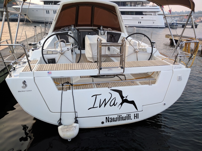 Boat lettering for a private yacht