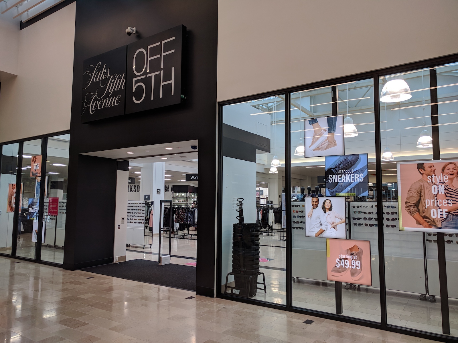 Saks OFF 5TH: LED panels installation