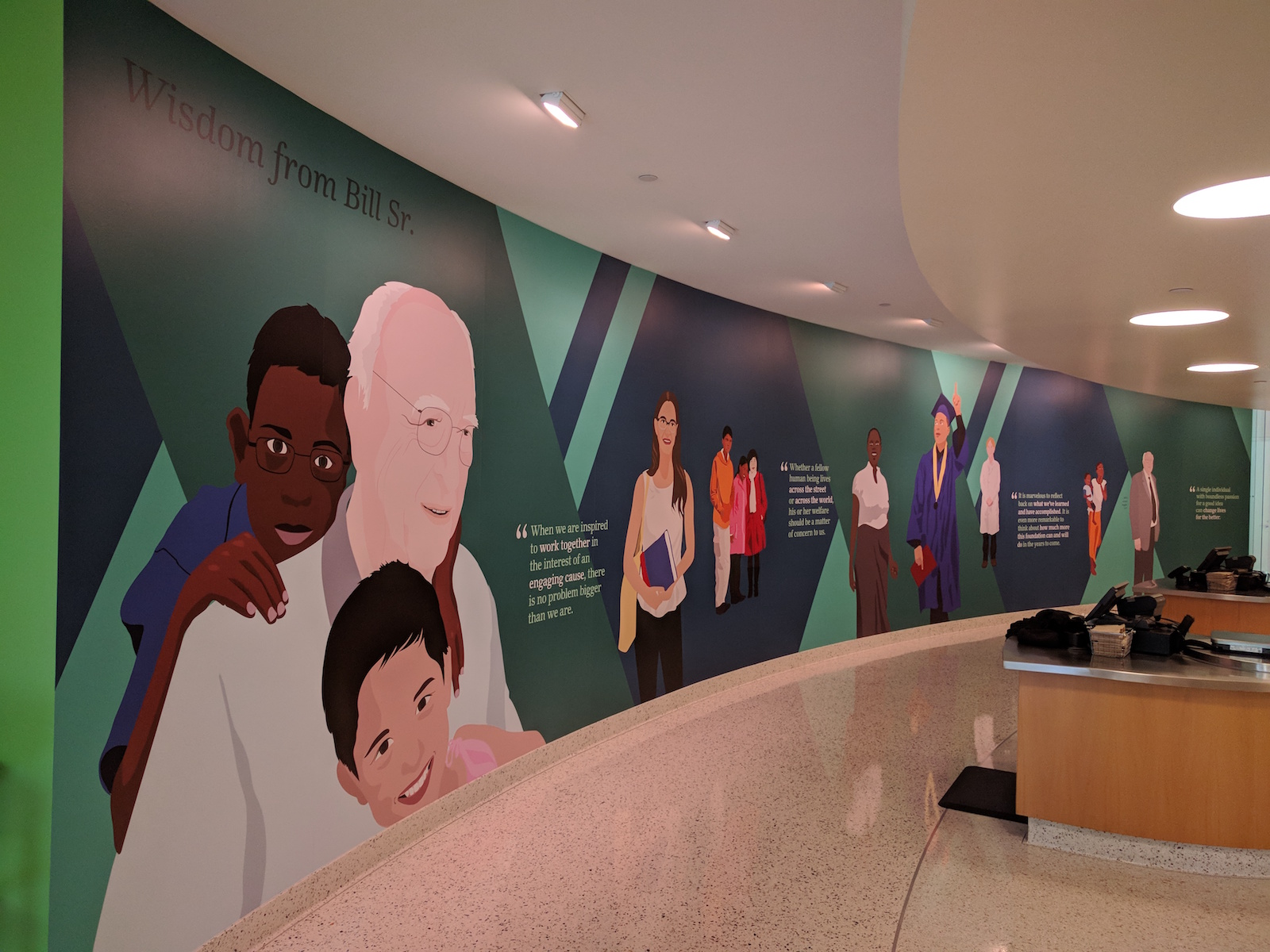 Bill & Melinda Gates Foundation: Large Wall Mural