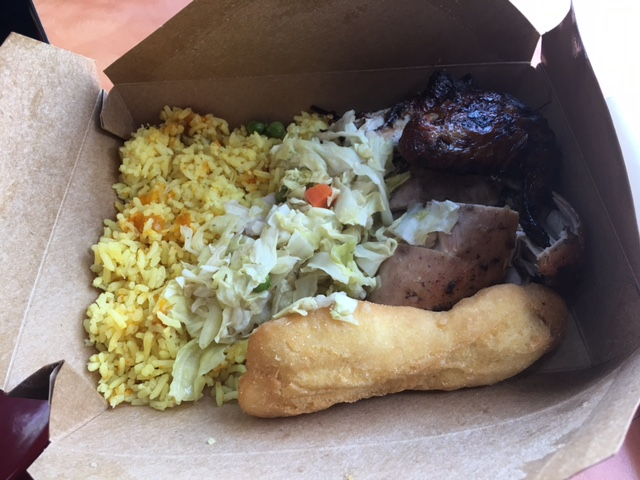 A quick lunch at the Airport with some jerk chicken. That's all I wanted to eat in Jamaica.