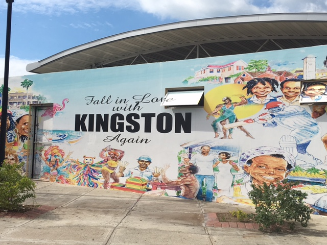 I love this art piece of Kingston at Norman Manley International Airport. I took it the day we arrived after taking a trip back to the airport to pick up the rental car. Our flight landed at 2am that day and the rental company was closed at the time so we had to go back later.