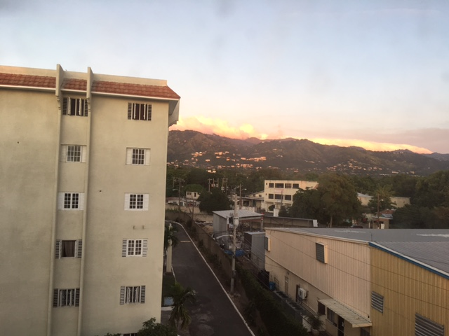 The view from our apartment complex at Oaklands.