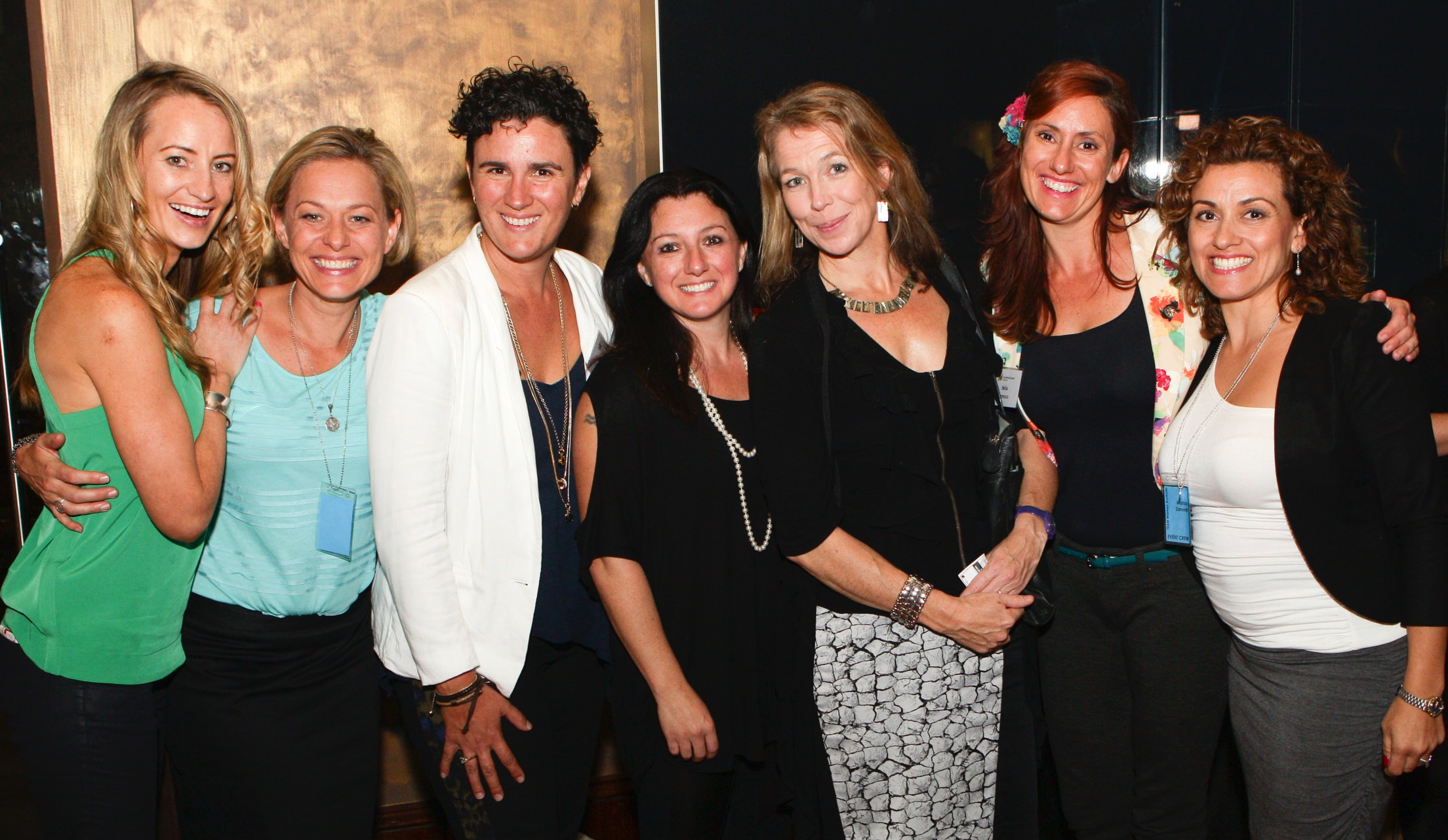 TED-Style Storytellers (left to right): Mindy Woods, Kylee Fitzpatrick, Abbie Widdin, Nicole Monterforte, Camilla Cooke, Bella Zanesca and Marisa Zammit.