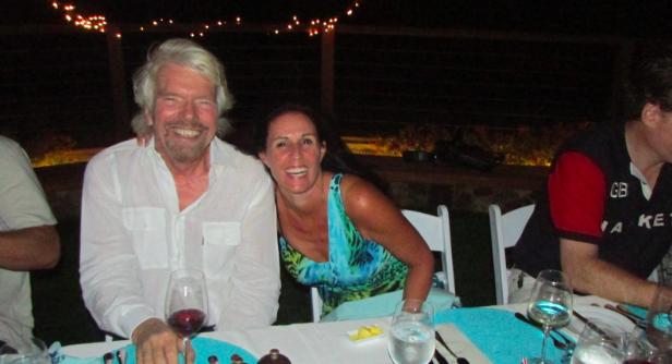 Pam with Richard Branson