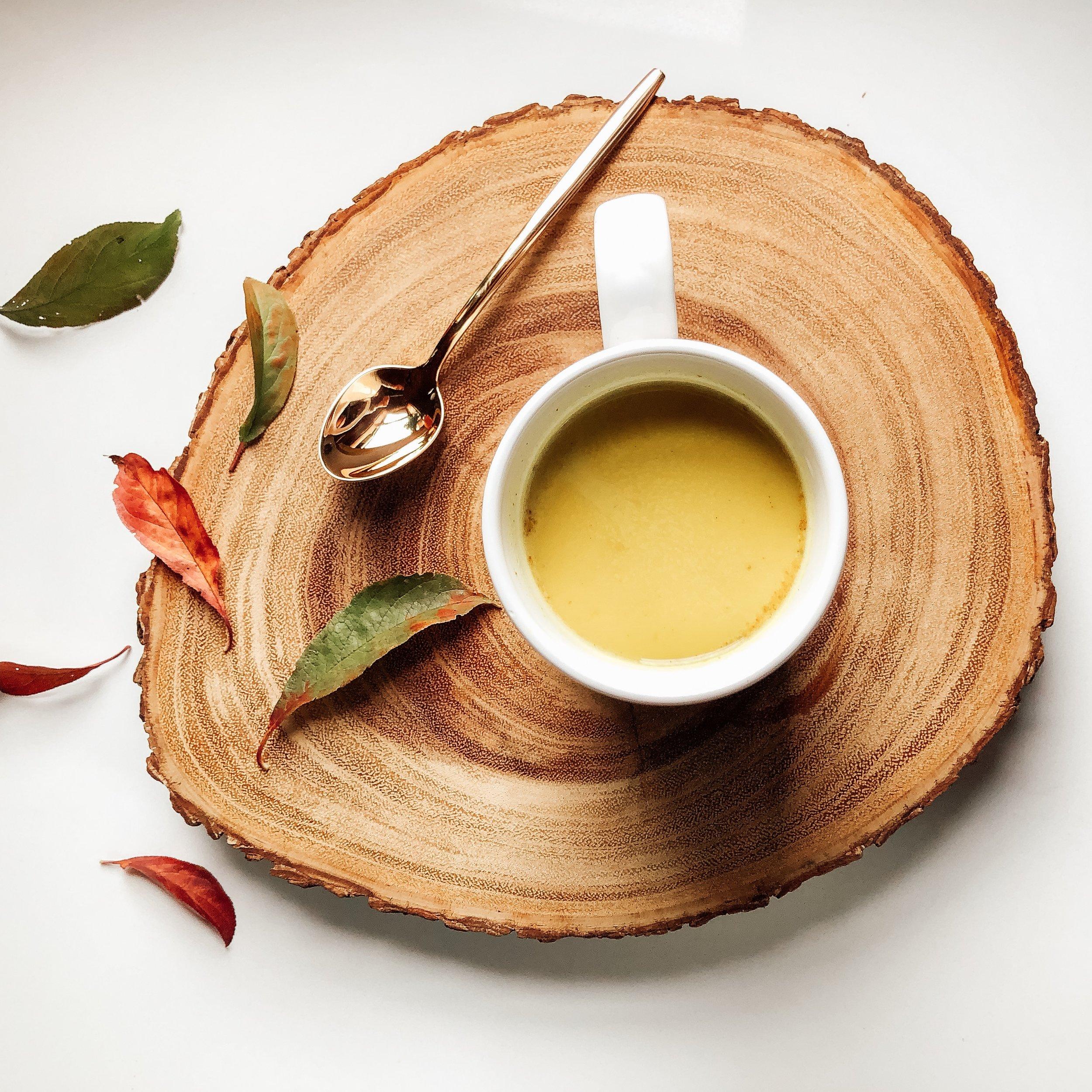 healing Turmeric Almond milk Latte