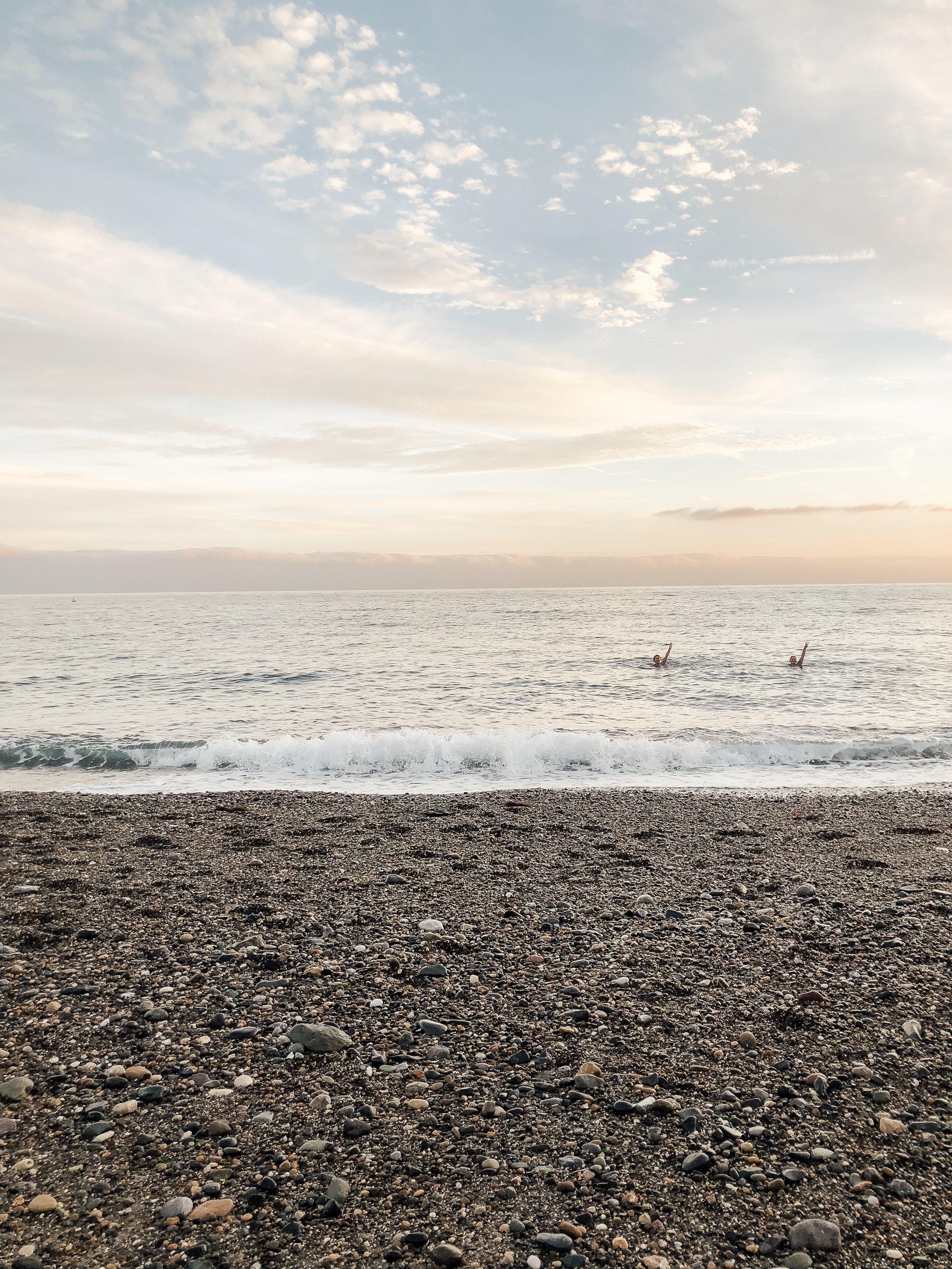 swimming in the irish sea