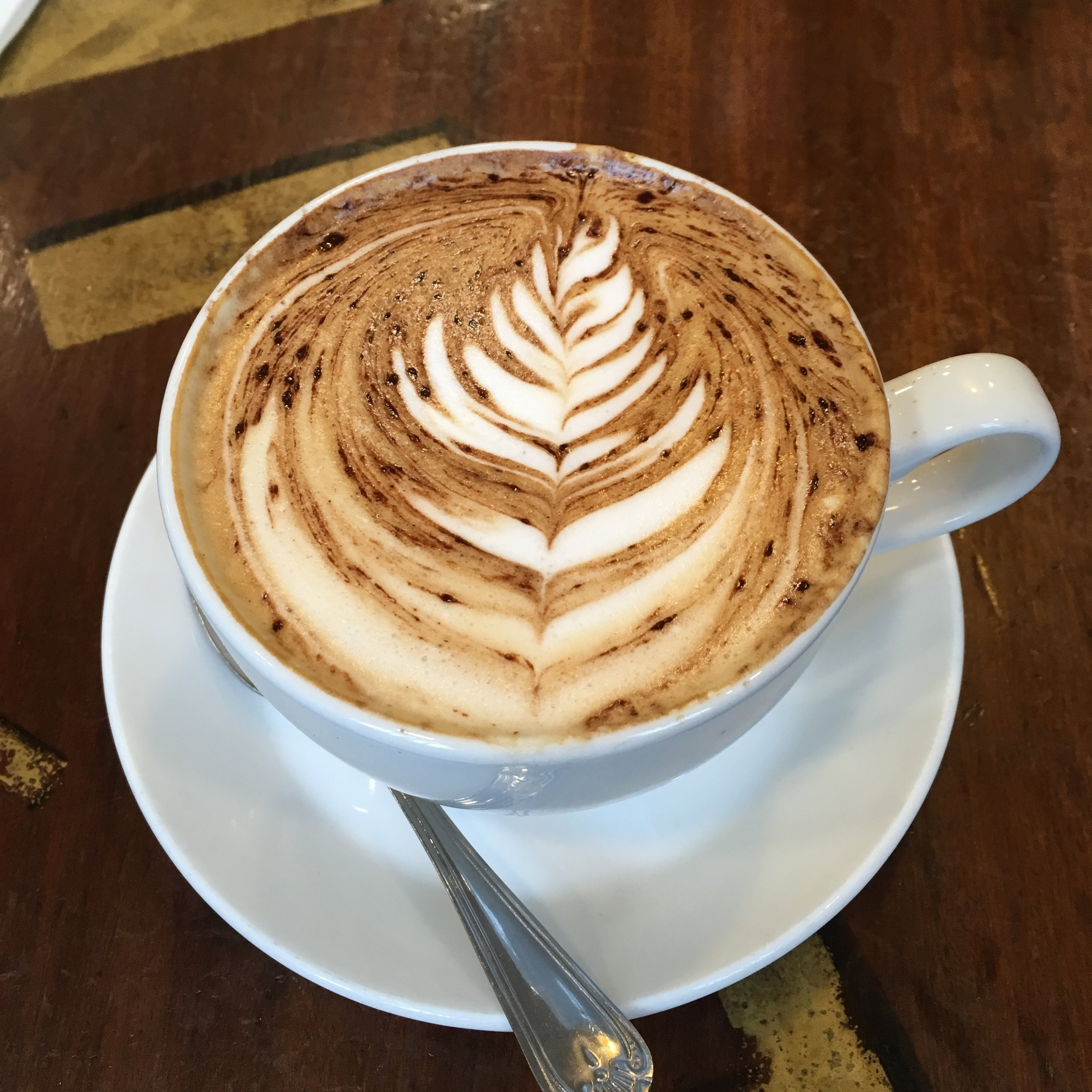 Dave's delicious cappuccino