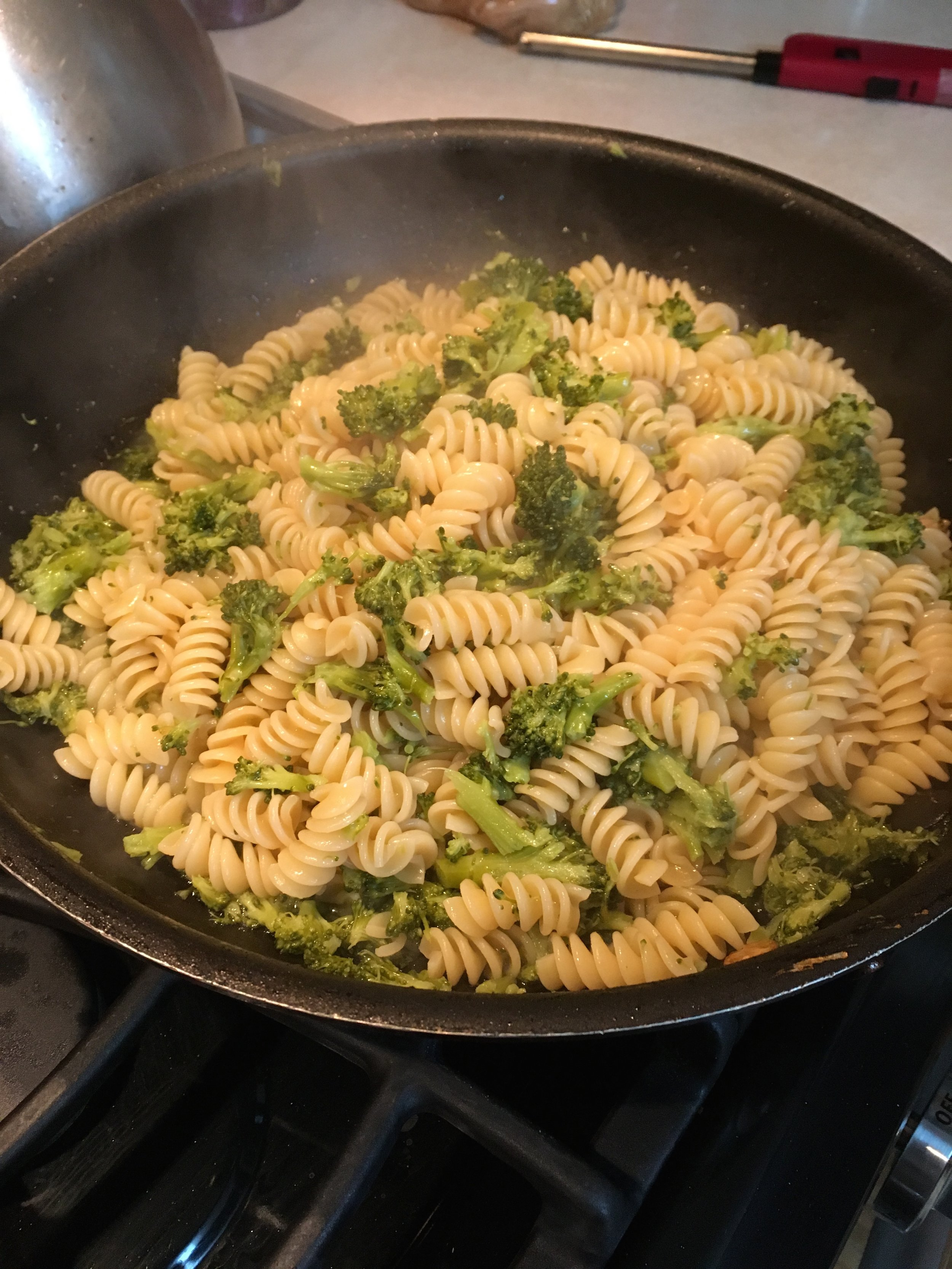 My dad's 'famous' broccoli pasta