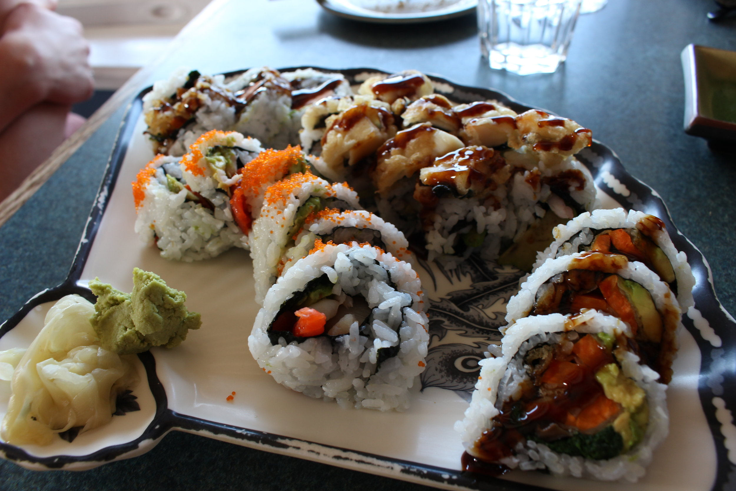 Our three rolls that were all equally delicious!