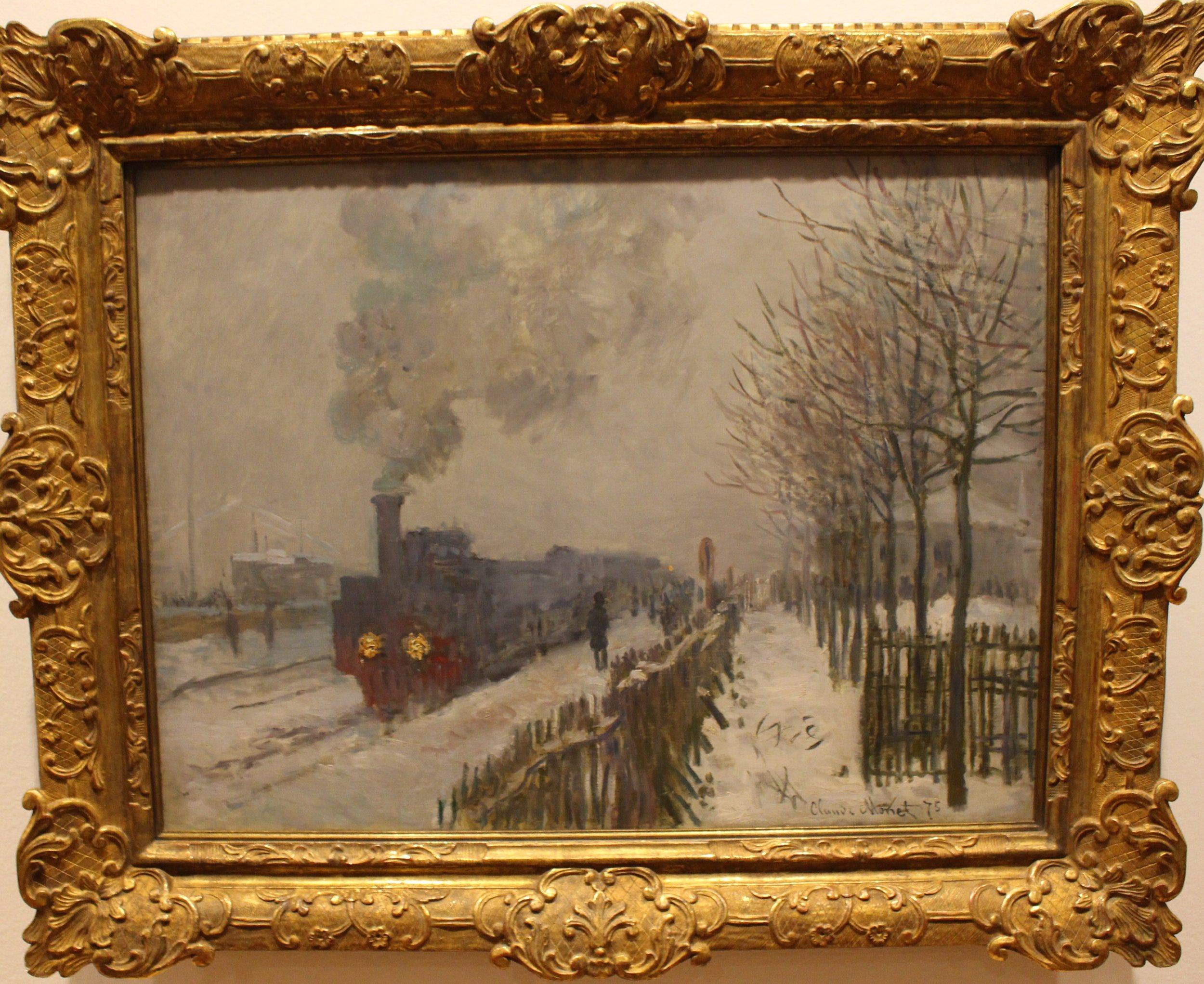 Train in the Snow. The Locomotive, 1875