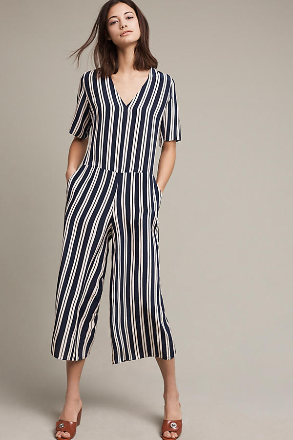 Check out this option from  Anthropologie  'Hart Striped Silk Jumpsuit' $475