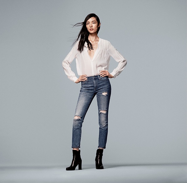 Check out this option from  GAP  'Mid Rise Destructed True Skinny Ankle Jeans' $89.95
