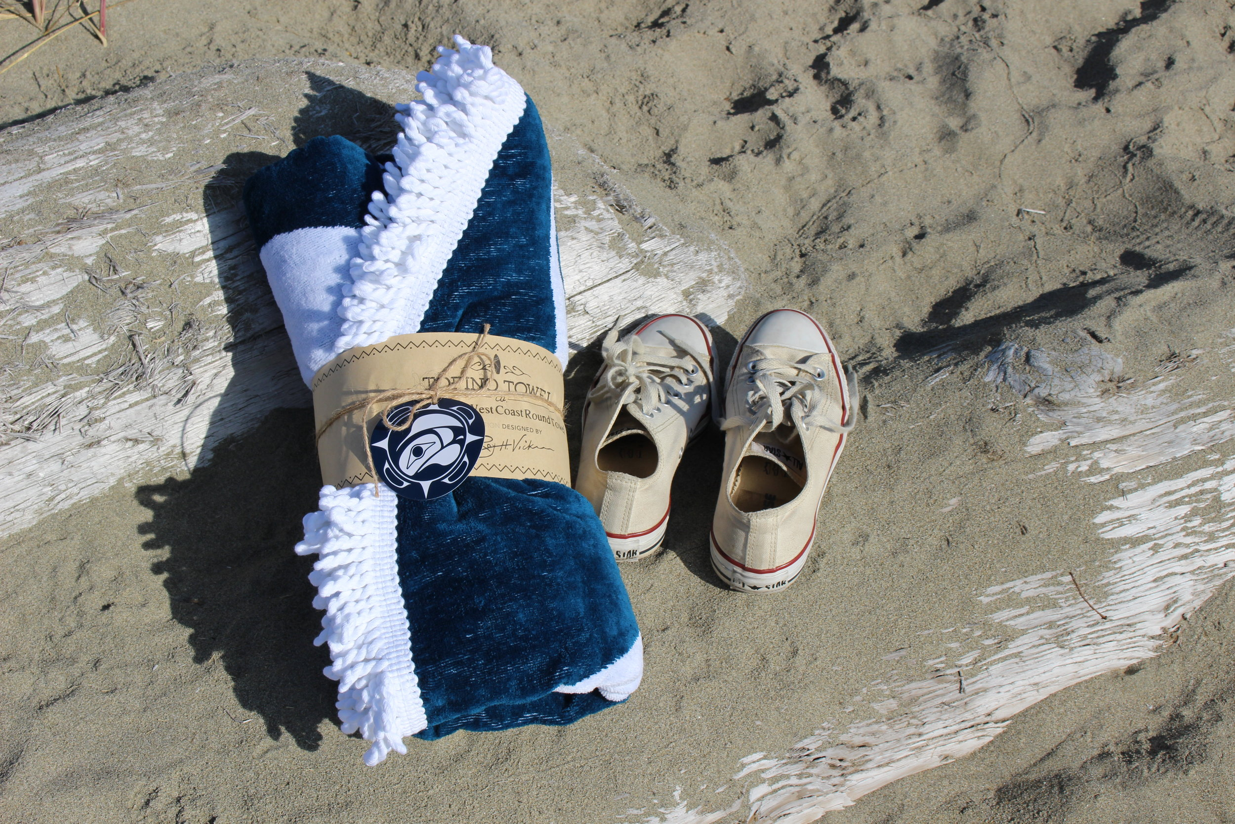 Limited Edition Roy Henry Vickers x Tofino Towel, Converse Sneakers