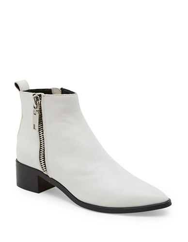 Dolce Vita, Marra Side Zip Leather Booties   , $190 available at The Bay