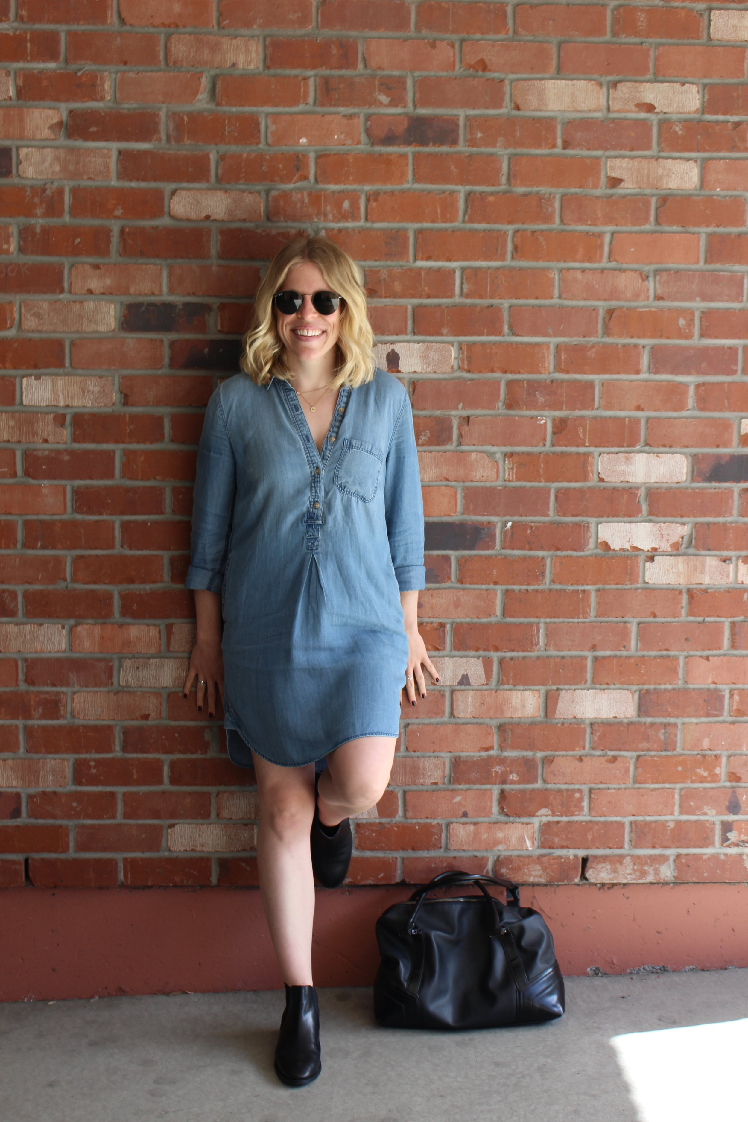 American Eagle   Dress,   Topshop   Boots,   Mark by Avon   Purse,   Ray Ban   Sunglasses