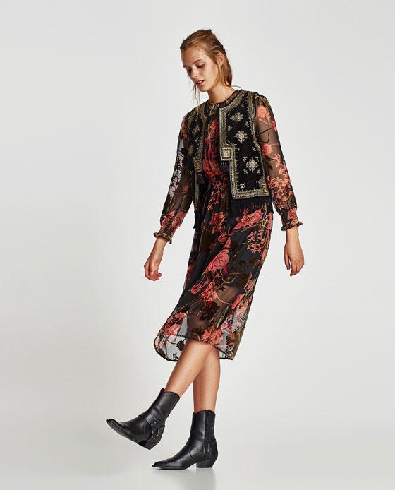 Embroidered Velvet Waistcoat ,  $99.90