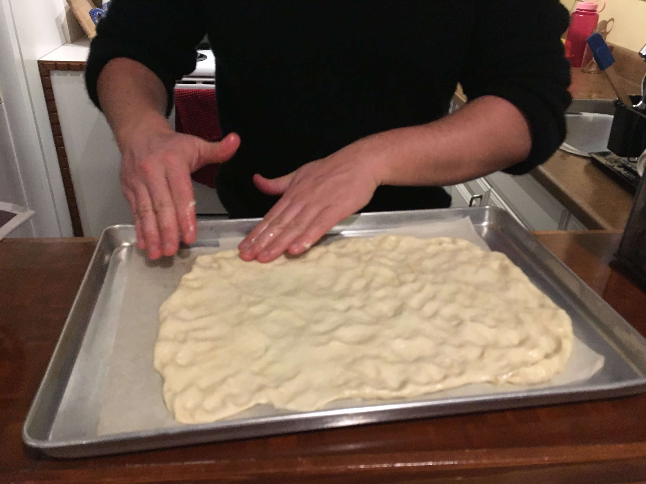 The pizza dough