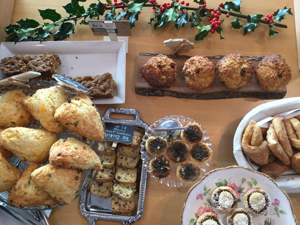 All the delicious baked goods at the Cafe