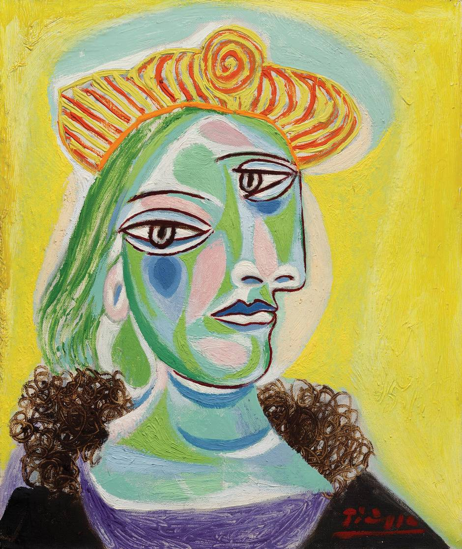 Pablo Picasso, Bust of a Woman, 1938, Oil on Canvas.