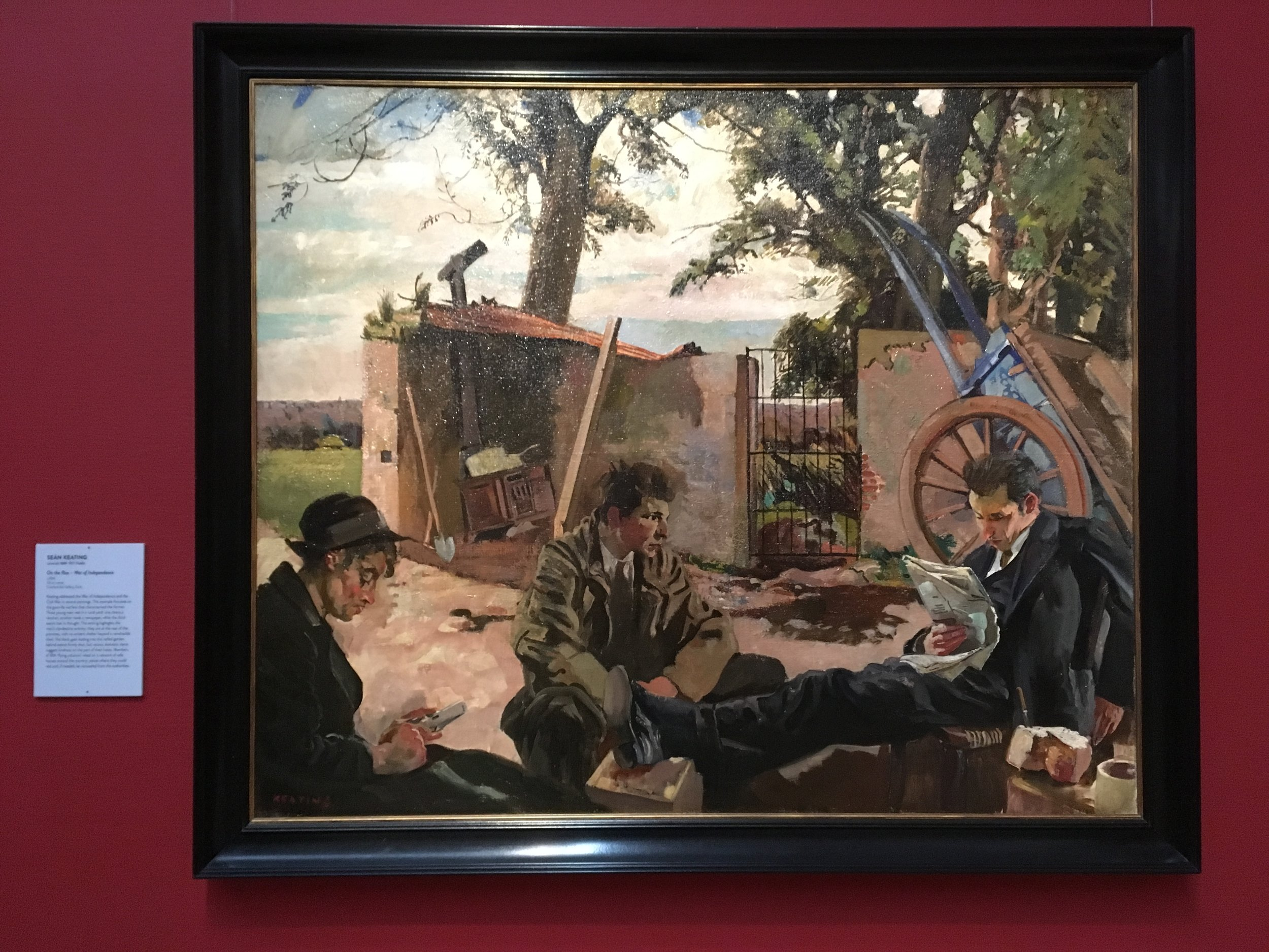 Sean Keating, On the Run - War of Independence, c. 1924, Oil on canvas, Crawford Art Gallery, Cork