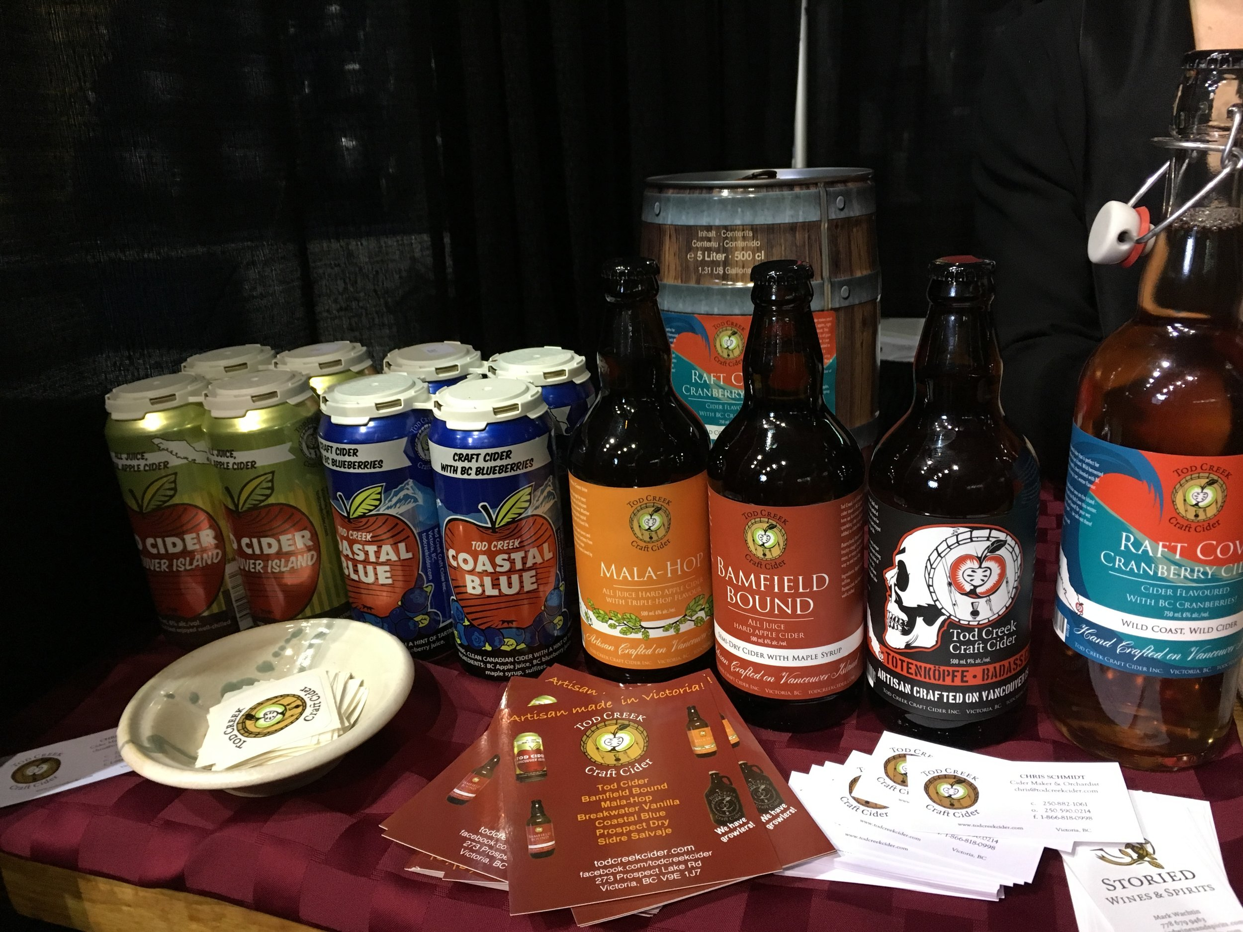 The  Tod Creek Craft Cider  stand at the Beer Show