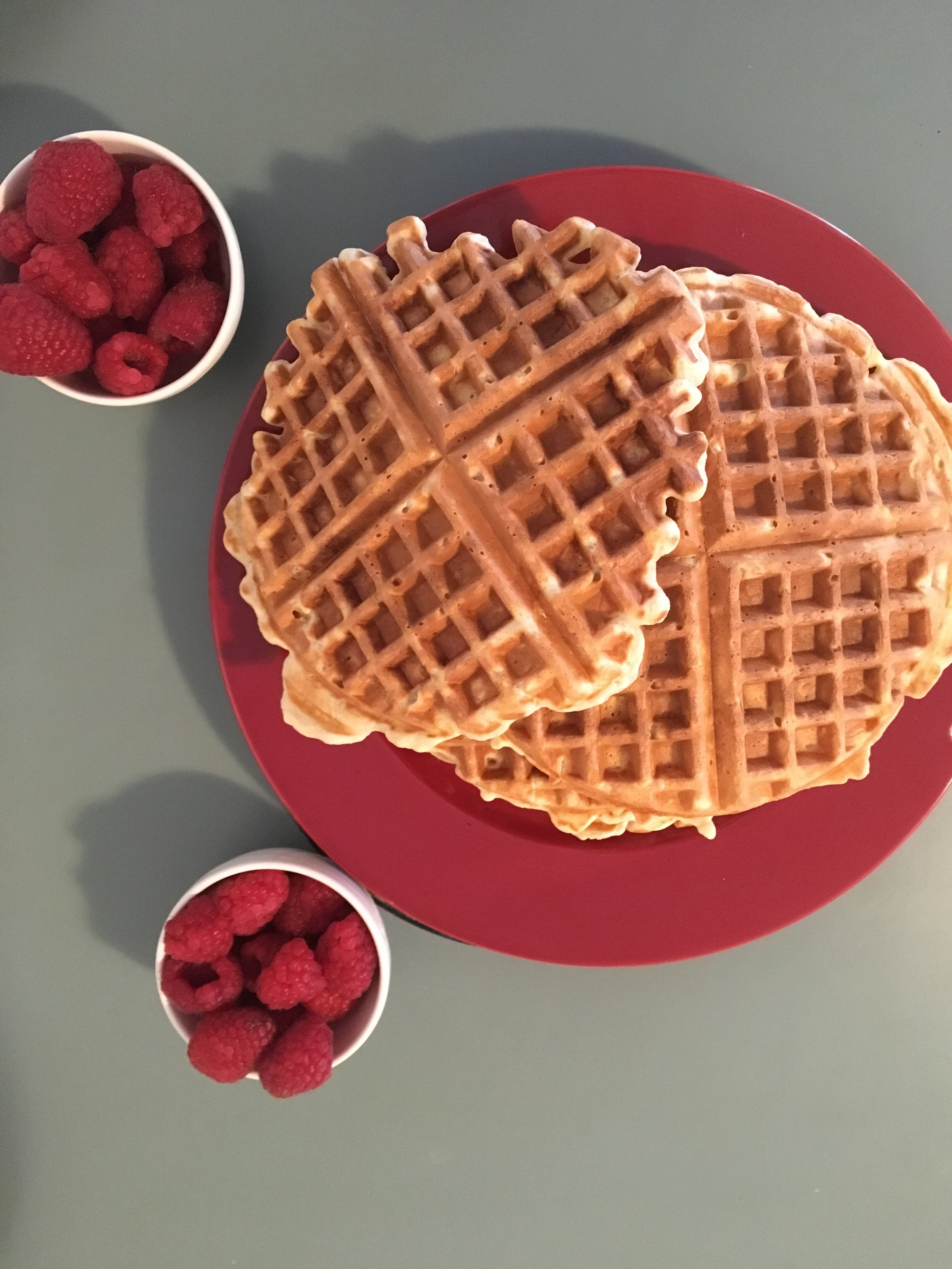 Ready to eat this pile of waffles!