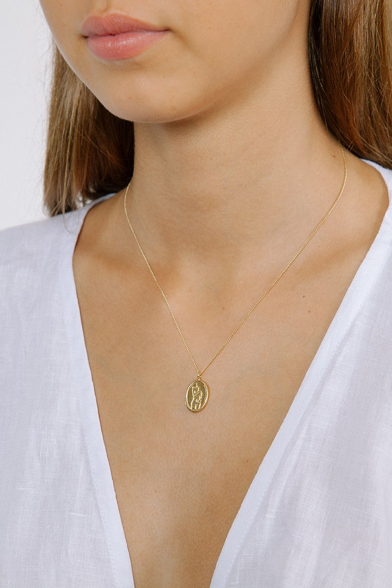 Wolf Circus   ,  Femme Pendant  in Gold, $140.00