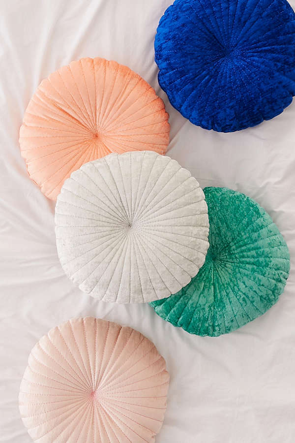Urban Outfitters   ,  Shelly Round Velvet Pillow , $49.00