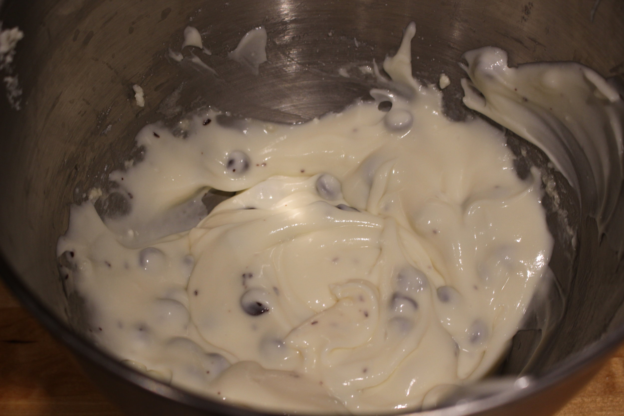 Ready to put in a piping bag for the cannolis