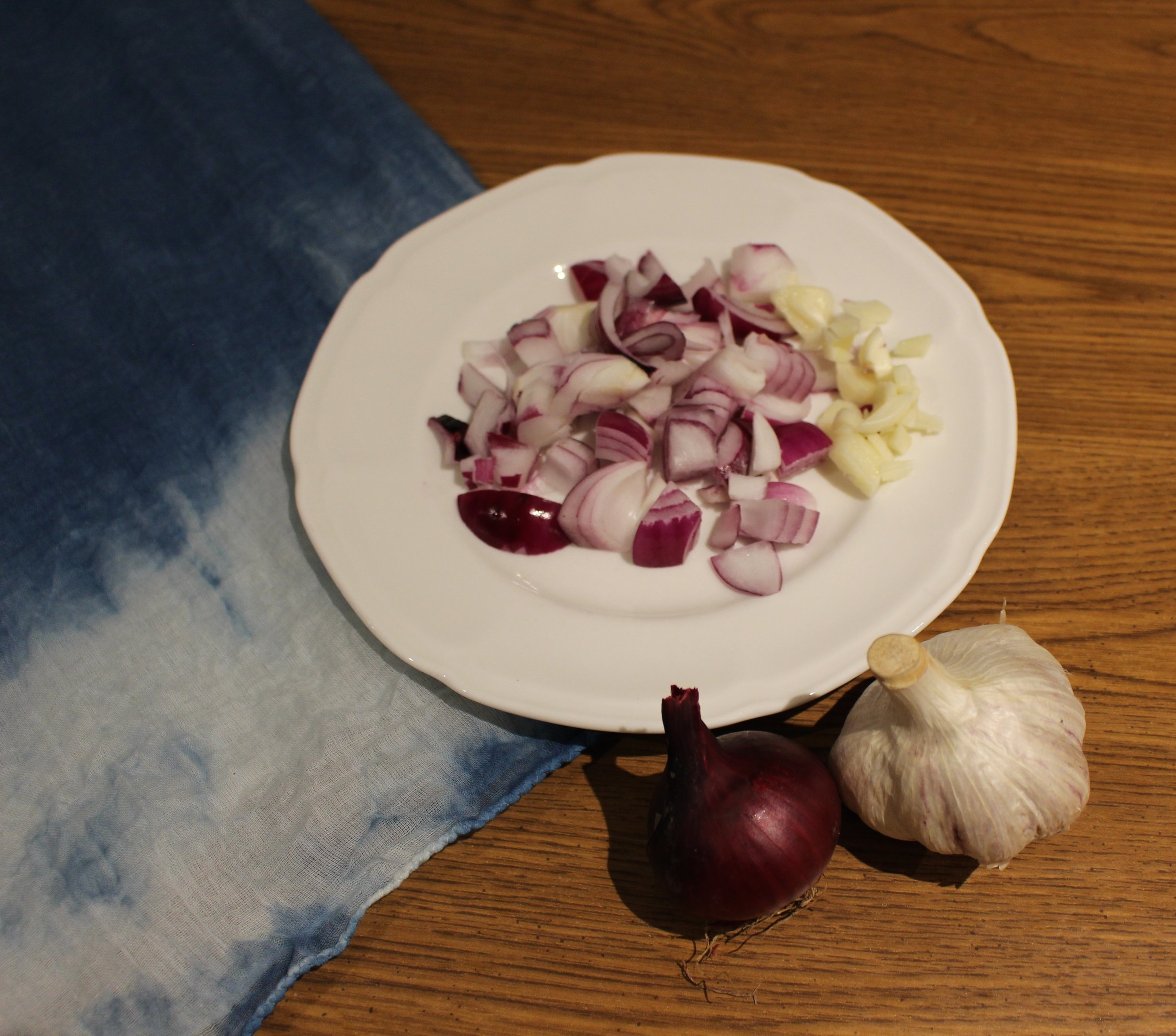 Onions and garlic from my dad's garden