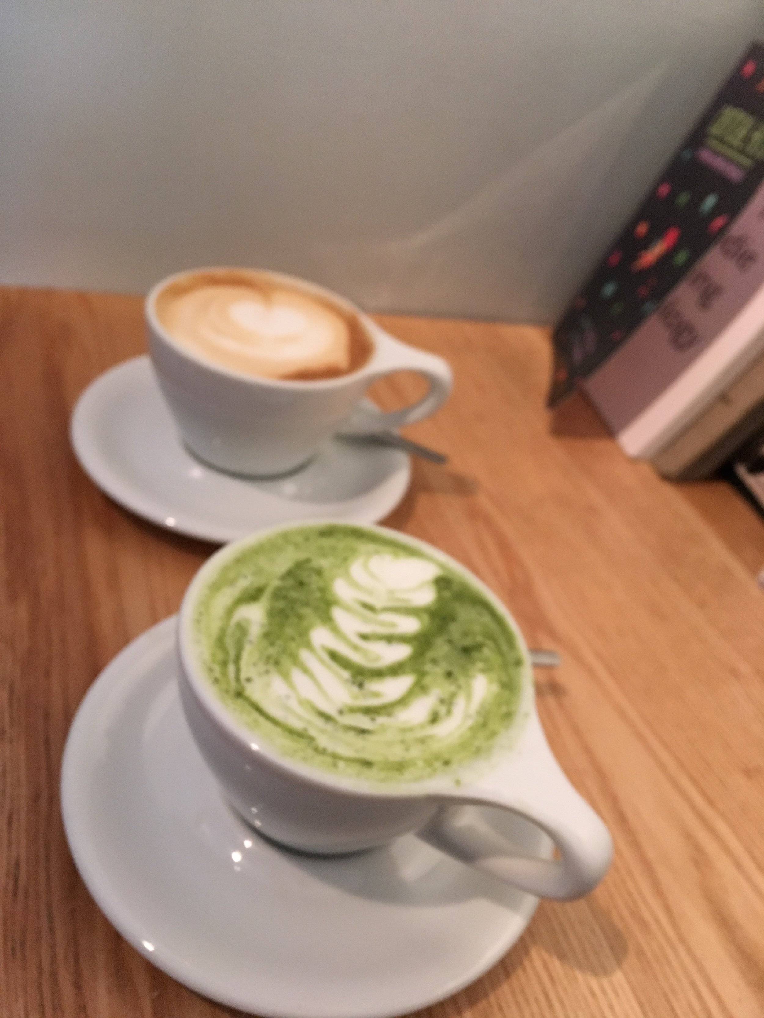 Matcha Latte and Cappuccino at  Kaph