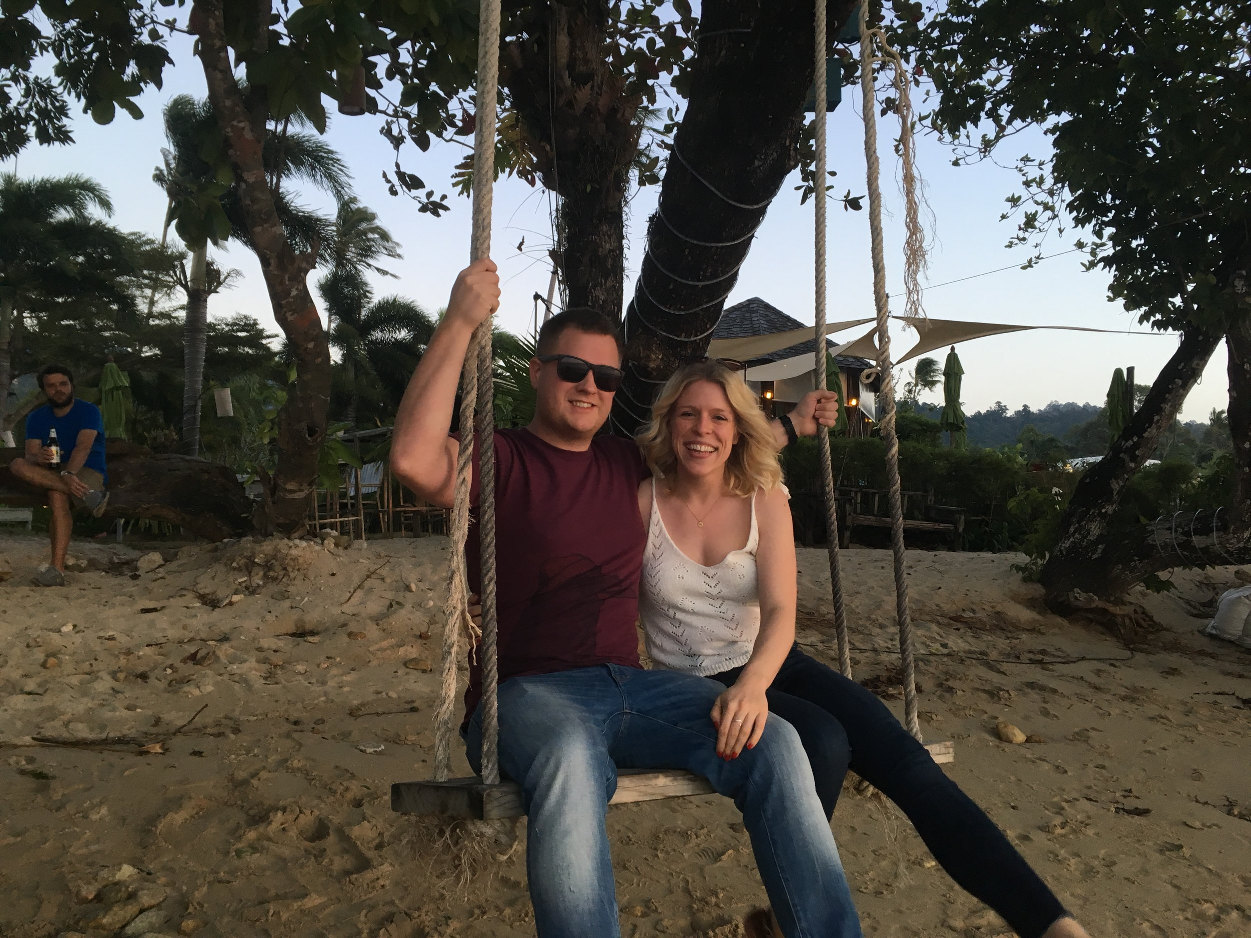 The swing on the beach, waiting for the sunset