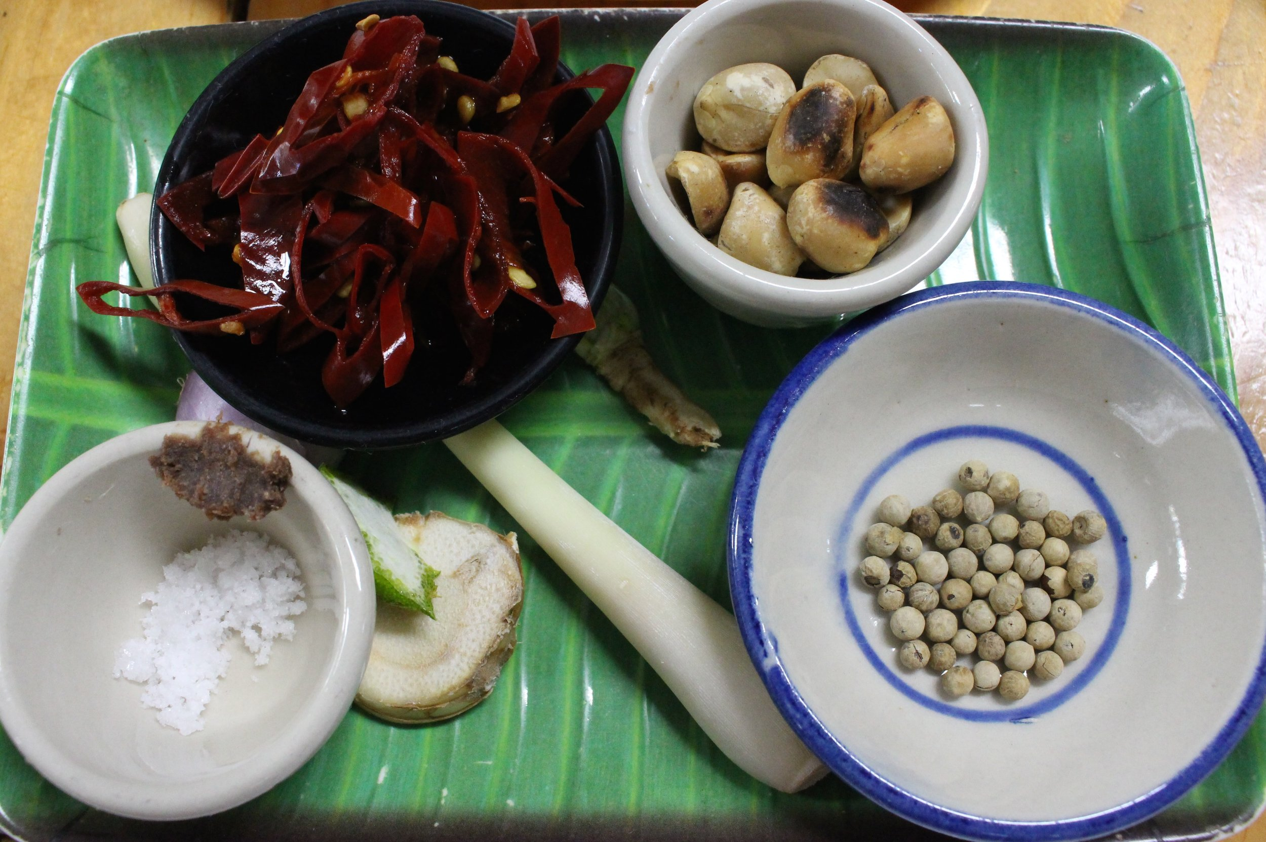 Each dish was divided into ingredients