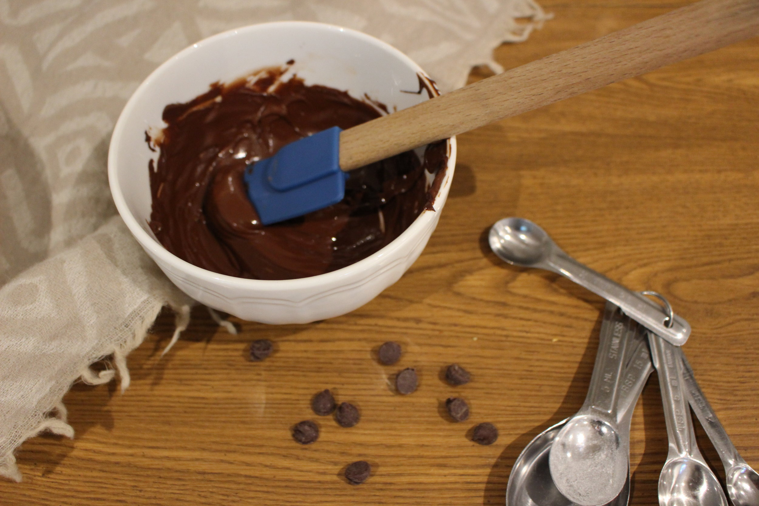 Don't forget the melted chocolate (yum!)