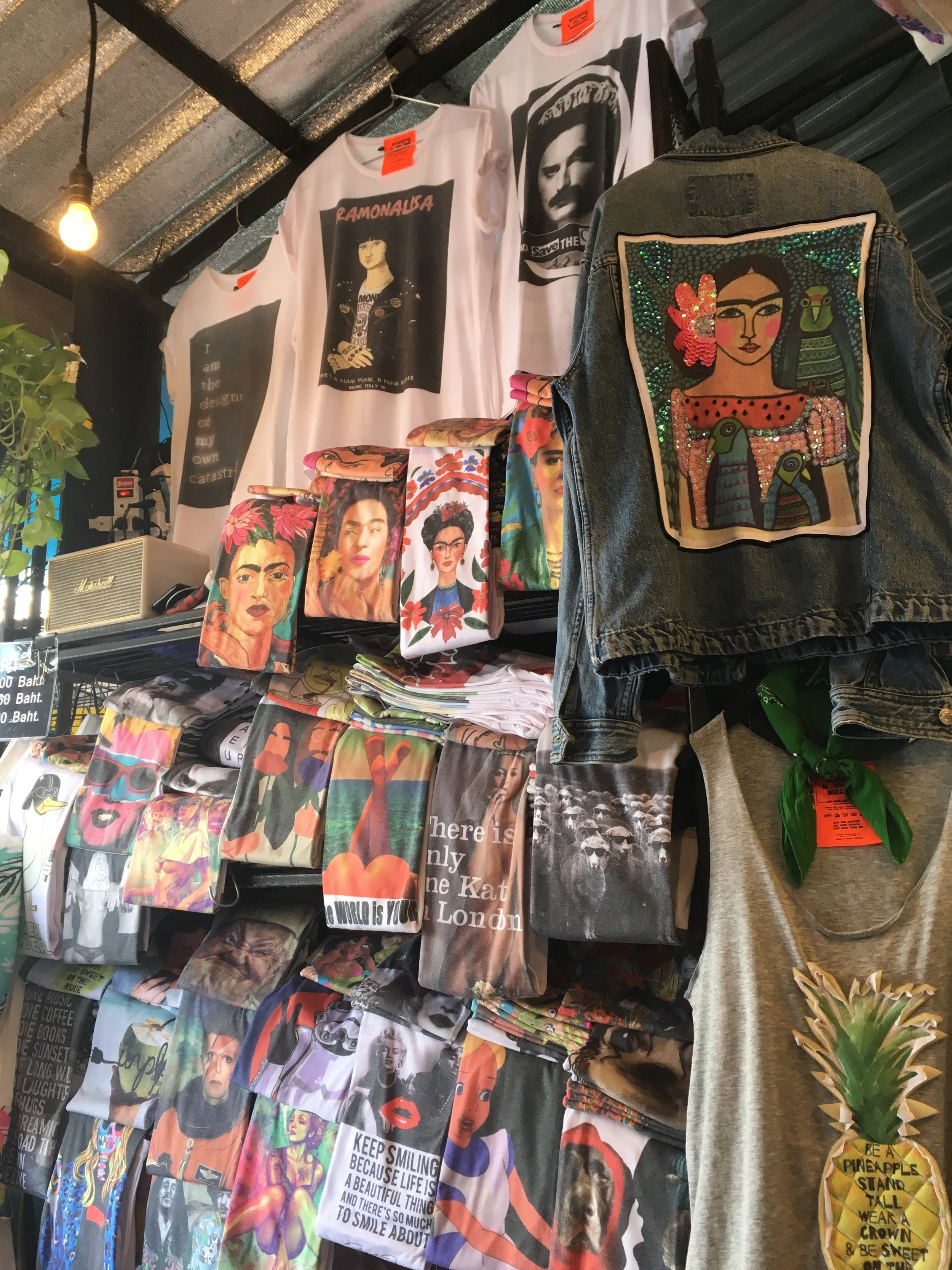 My favourite fashion stall with Frida pieces everywhere