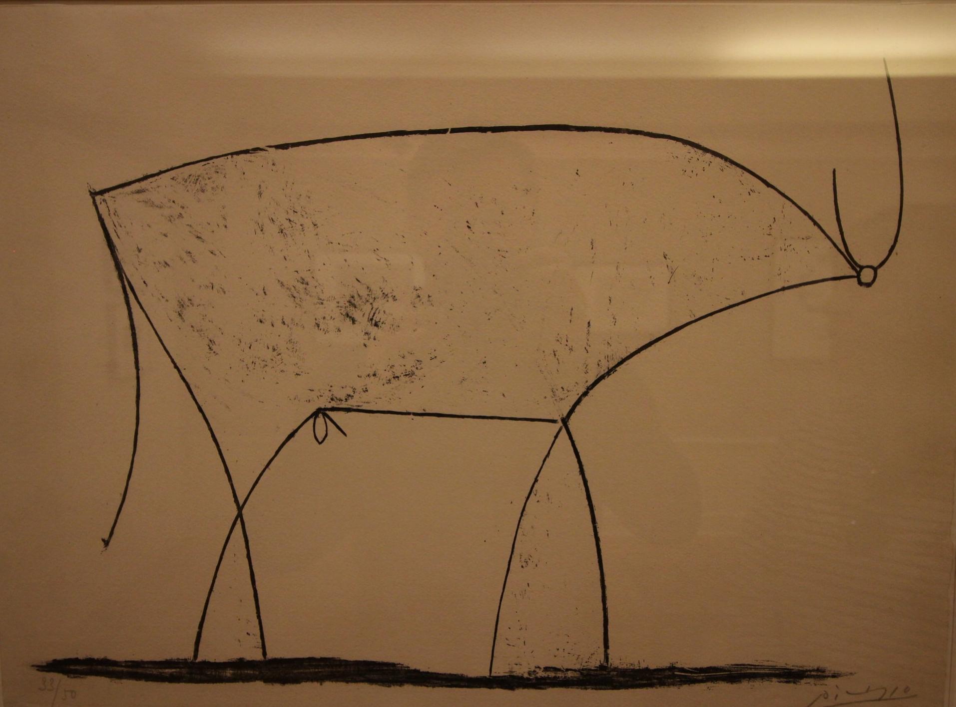 Pablo Picasso,   Le Taureau (Bull)  , 1946, Lithograph on cream wove paper