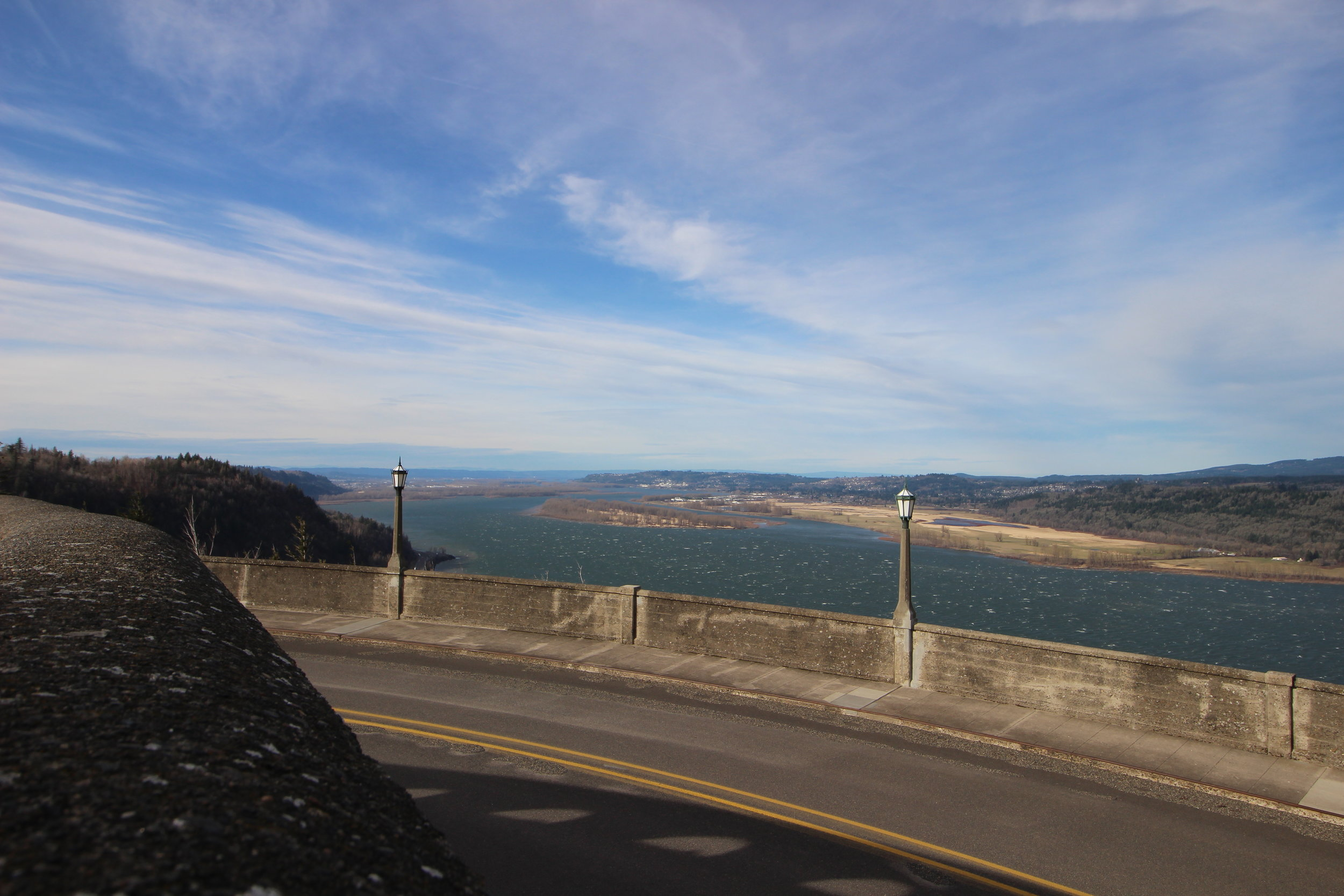 Our drive along the Historic Columbia River Highway