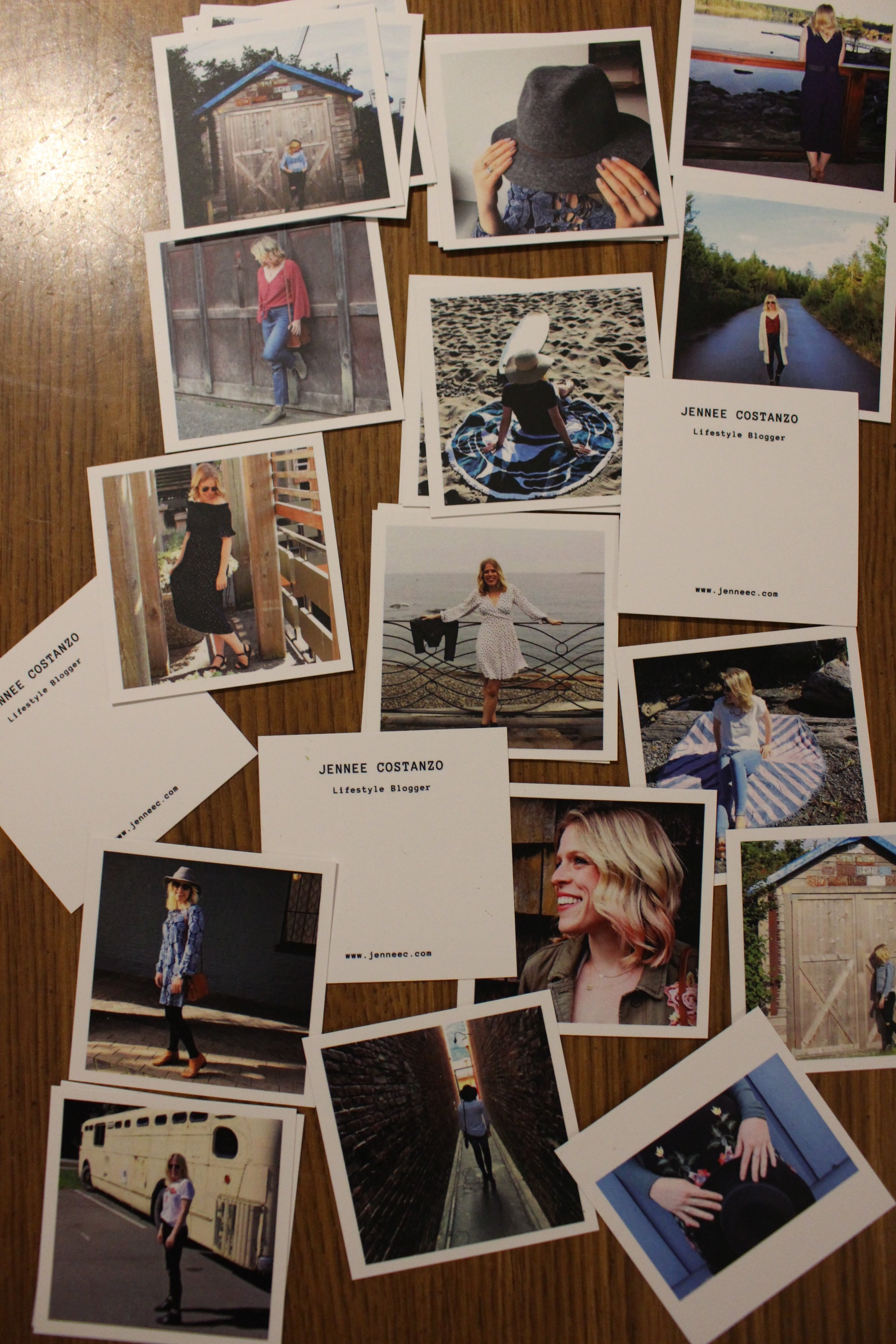 So amazing seeing all my friends and Dave's photograph on these little cards
