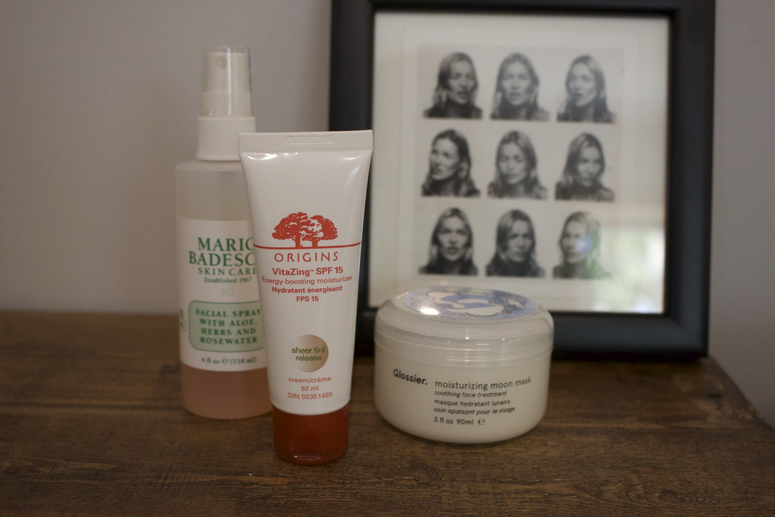 My three favourite skincare products