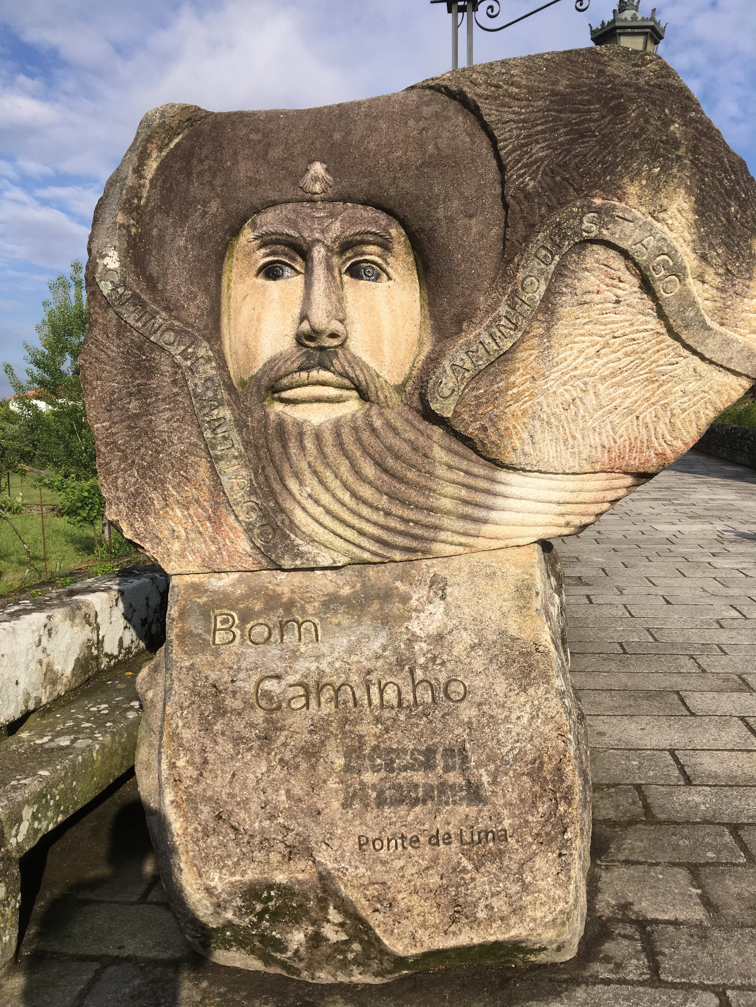 I loved all the greetings along the way wishing us good luck on our camino