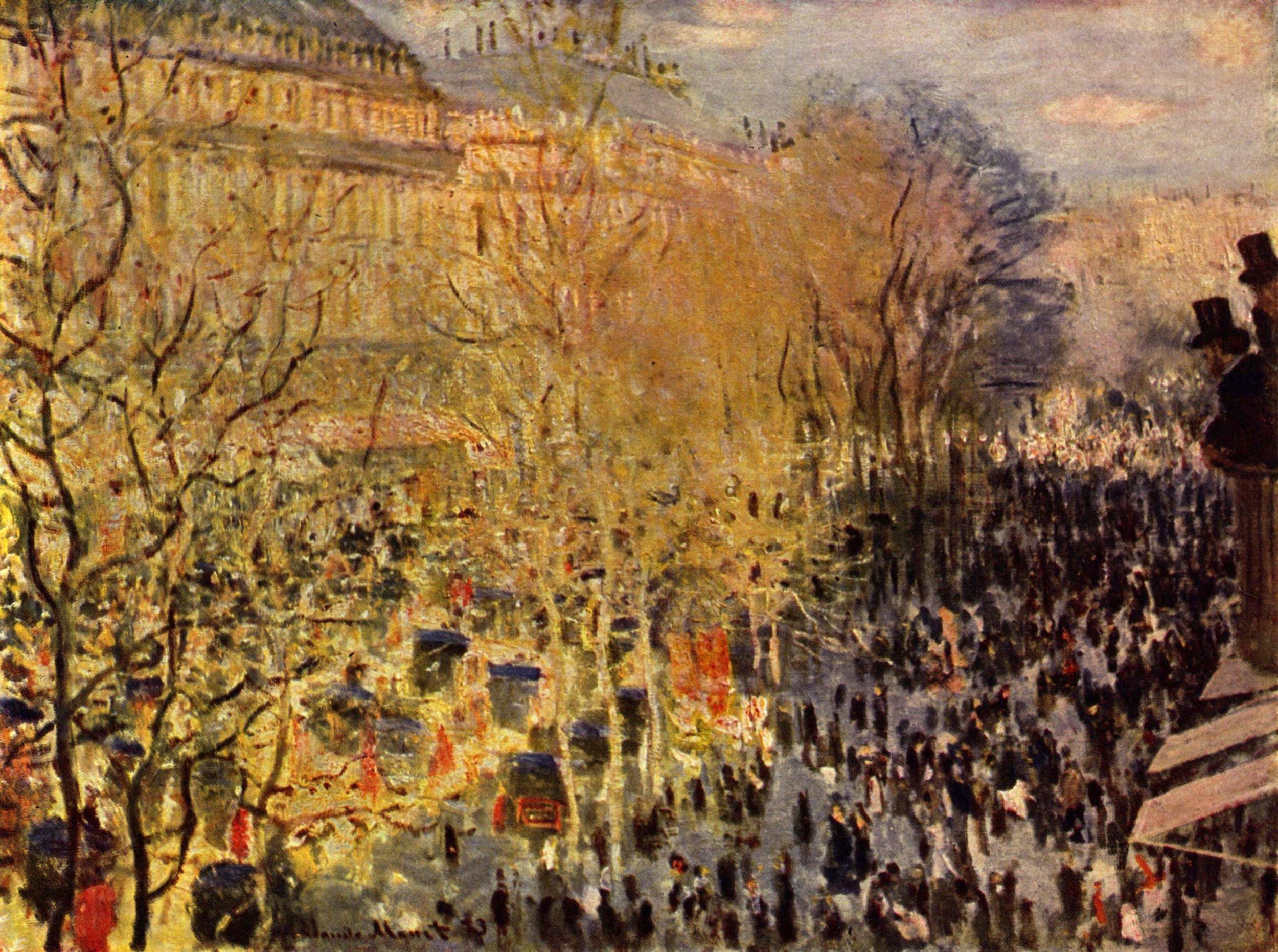 The Boulevard des Capucines, Paris  , 1873, Claude Monet