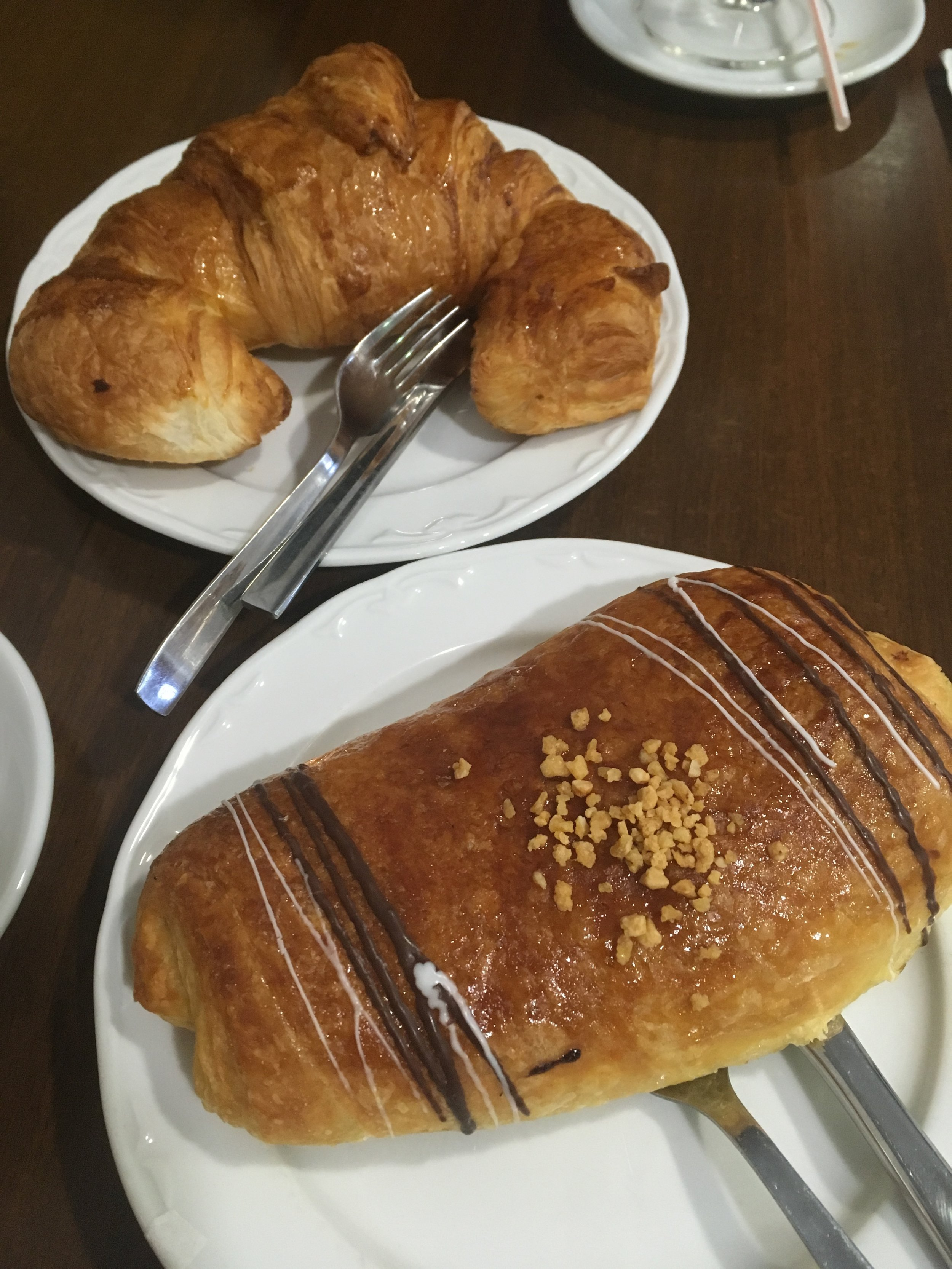 Delicious pastries for breakfast